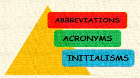 contoh akronim inisial dan singkatan