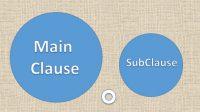 contoh main clause